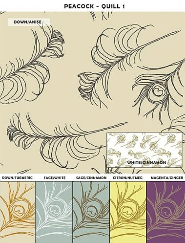 Casart coverings Quill_Patterns Sample 1