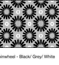 Casart coverings Black & Grey & White Spinwheel_wallcovering_MoRockAnSoul_1x
