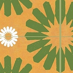 Casart coverings Green & Orange & White Spinwheel_MoRockAnSoul_2