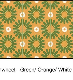Casart coverings Green & Orange & White Spinwheel_wallcovering_MoRockAnSoul_2x