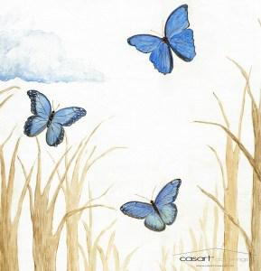 Casart Stair Mural Butterflies removable wallpaperDetail