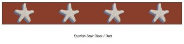 Casart Starfish_Stair Riser - Border Patriotic Red Detail_2x