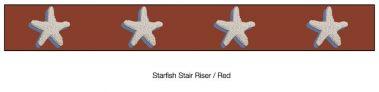 Casart Starfish_Stair Riser - Border Patriotic Red Detail_2x
