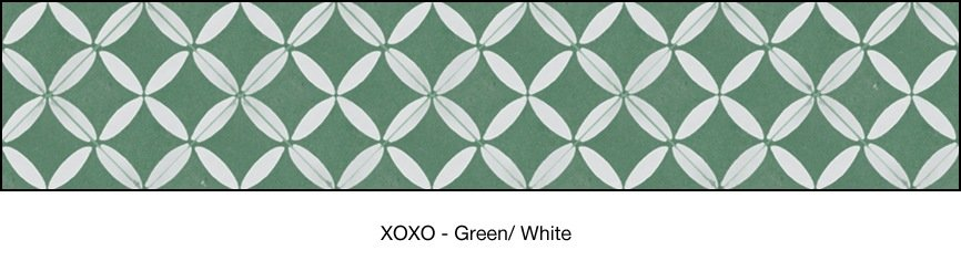 Casart coverings Green & White XOXO-Bookcase Backing_MoRockAnSoul_2x