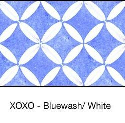 Casart coverings Bluewash & White XOXO-Bookcase Backing_MoRockAnSoul_3x