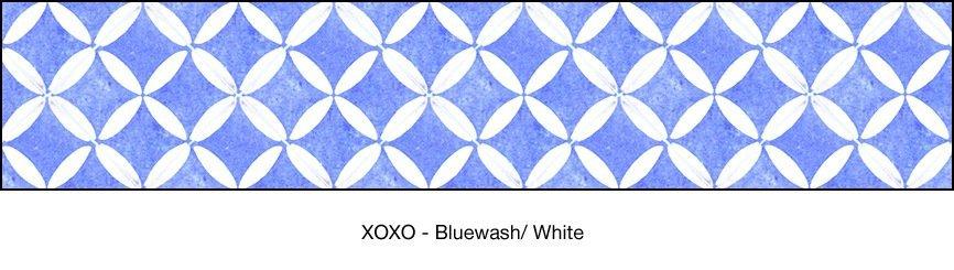 Casart coverings Bluewash & White XOXO-Bookcase Backing_MoRockAnSoul_3x