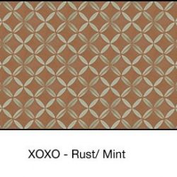 Casart coverings Rust & Mint XOXO_wallcovering_MoRockAnSoul_4x