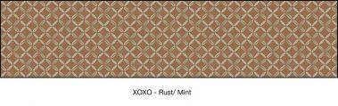 Casart coverings Rust & Mint XOXO_wallcovering_MoRockAnSoul_4x