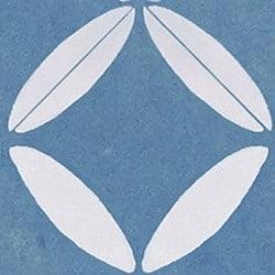 Casart coverings Blue & White XOXO_StairRiser_MoRockAnSoul_3