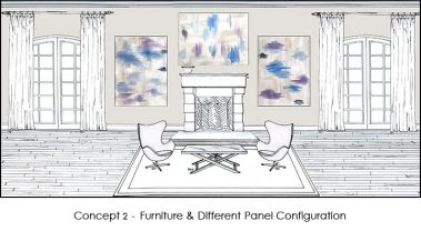 Casart Abstract Panels Watercolor 5x_Room Concepts