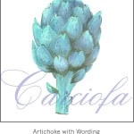 Casart Teal Artichoke with wording 3x