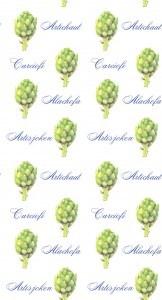 Casart Green Artichoke Pattern 1