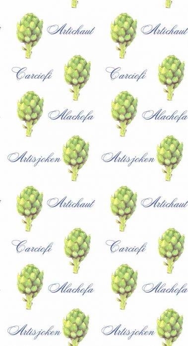 Casart Green Artichaut Pattern 1