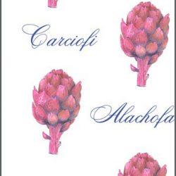 Casart Botanical Pink Artichoke Pattern 2x