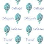 Casart Botanical Teal Artichaut Pattern