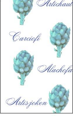 Casart Botanical Teal Artichoke Pattern3x