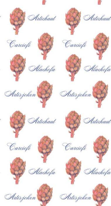 Casart Botanical Brown Artichaut Pattern 4