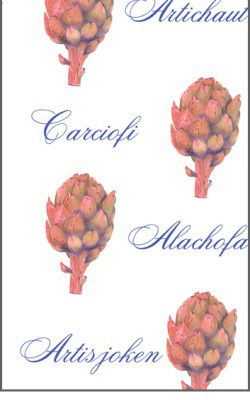 Casart Botanical Brown Artichoke Pattern 4x