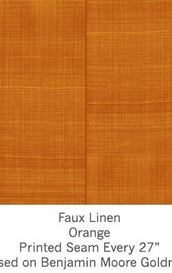 Casart coverings Orange Faux Linen_Wallfinish_12x