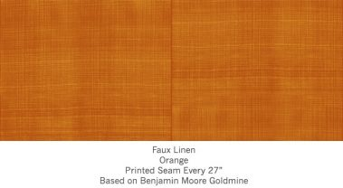 Casart coverings Orange Faux Linen_Wallfinish_12x