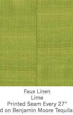 Casart coverings Lime Faux Linen_Wallfinish_13x