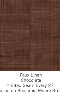 Casart coverings Coffee Faux Linen_Wallfinish_15x