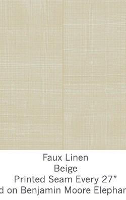 Casart coverings Beige Faux Linen_Wallfinish_2x