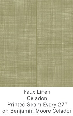 Casart coverings Celadon Faux Linen_Wallfinish_3x