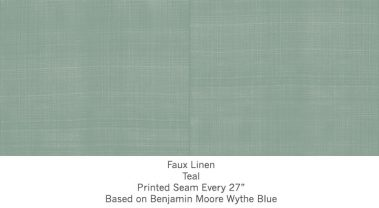 Casart coverings Teal Faux Linen_Wallfinish_4x