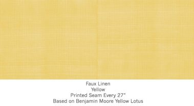 Casart coverings Yellow Faux Linen_Wallfinish_6x