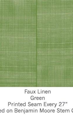 Casart coverings Green Faux Linen_Wallfinish_7x