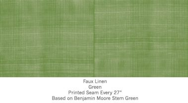 Casart coverings Green Faux Linen_Wallfinish_7x