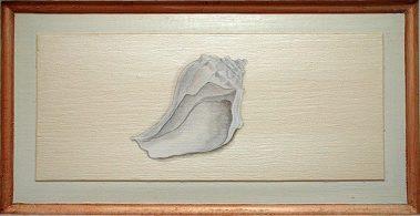 Casart Faux Plaster Conch Trompe loeil Panel 5