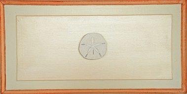 Casart Faux Plaster Sand Dollar Trompe loeil Panel 1