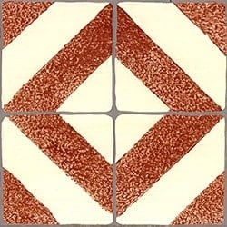 Casart Faux Tile Terracotta & Cream Border_Architectural Detail 1