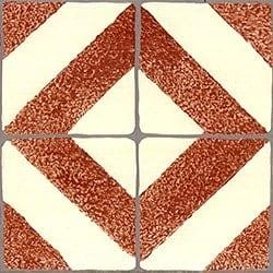 Casart Faux Tile Terracotta & Cream Border_Architectural Detail 1