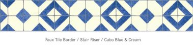 Casart Faux Tile Border Cabo - Cream_Architectural_ 2x