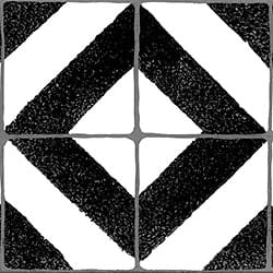 Faux Tile Border Black & White_Architectural_ 3