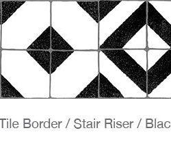 Casart Faux Tile Border Black - White Detail 3x
