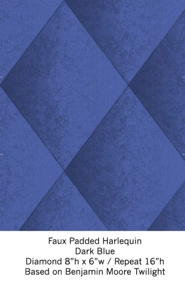Casart Dark Blue Harlequin_Wallfinish_11x