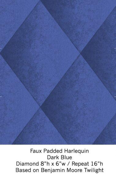 Casart Dark Blue Harlequin_Wallfinish_11x