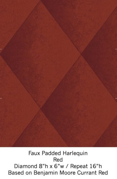 Casart Red Harlequin_Wallfinish_14x