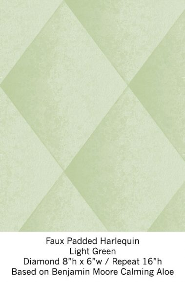 Casart Light Green Harlequin_Wallfinish_3x