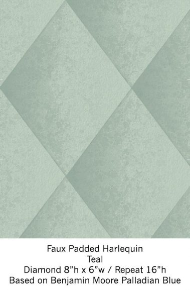Casart Teal Harlequin_Wallfinish_5x