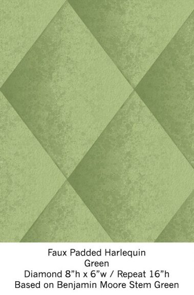 Casart Green Harlequin_Wallfinish_7x
