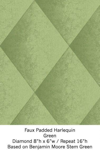 Casart Green Harlequin_Wallfinish_7x