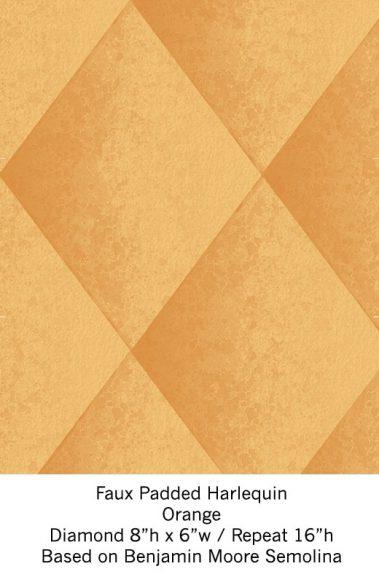 Casart Orange Harlequin_Wallfinish_8x