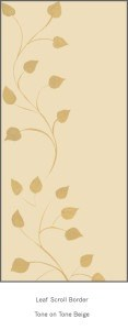 Casart Beige Tone on Tone Leaf Scroll 1x