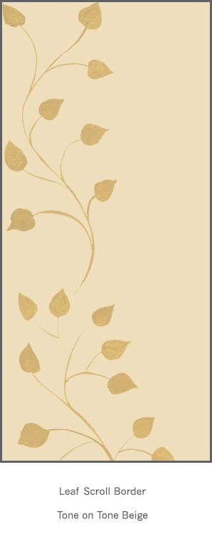 Casart Beige Tone on Tone Leaf Scroll - Botanicals 1x