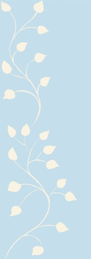 Casart Cream Blue Leaf Scroll - Botanicals 2